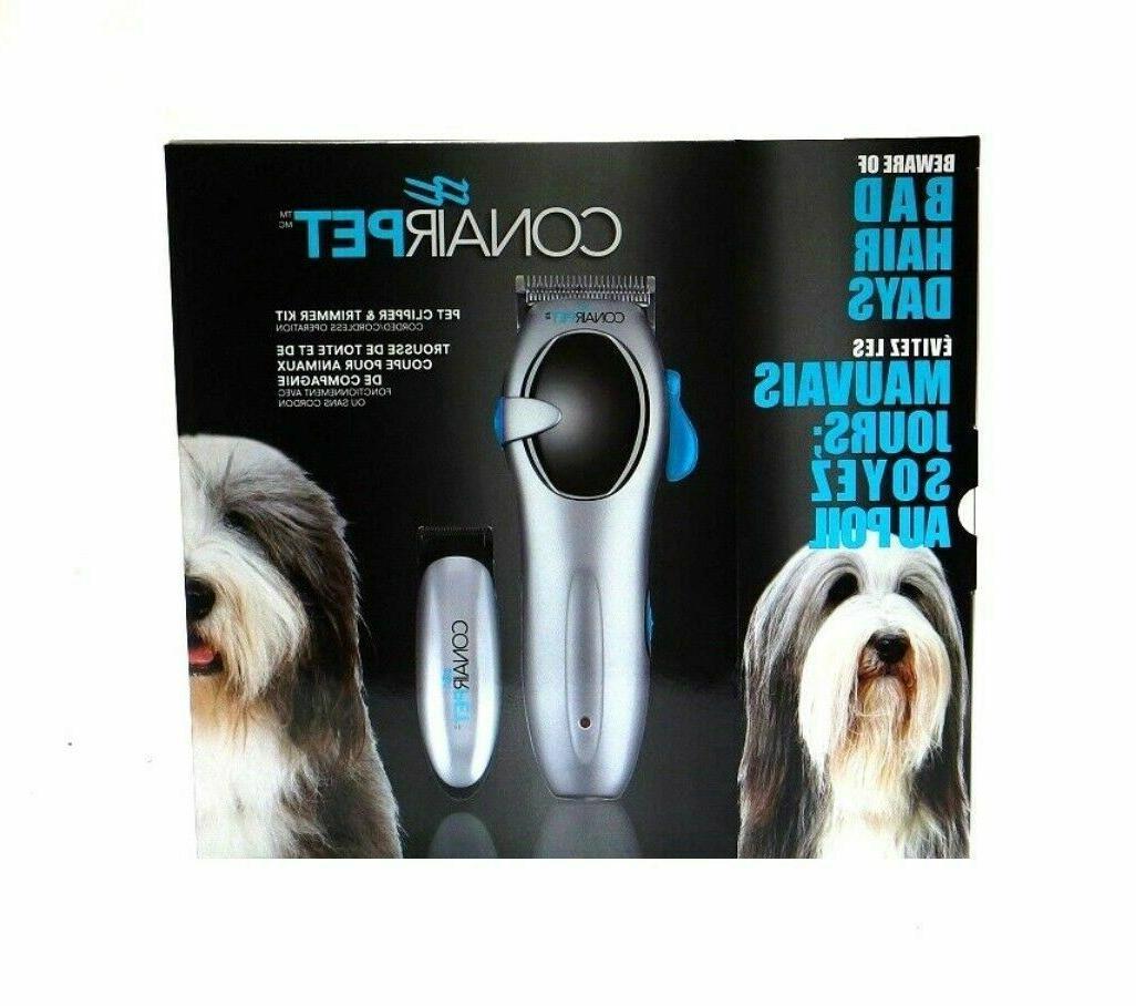CONAIR Cordless trimmer Pet Dog +Shower
