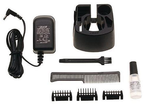 Wahl and Mustache High Carbon Blades, and 6-Position Guide, with Grip Brush, Storage