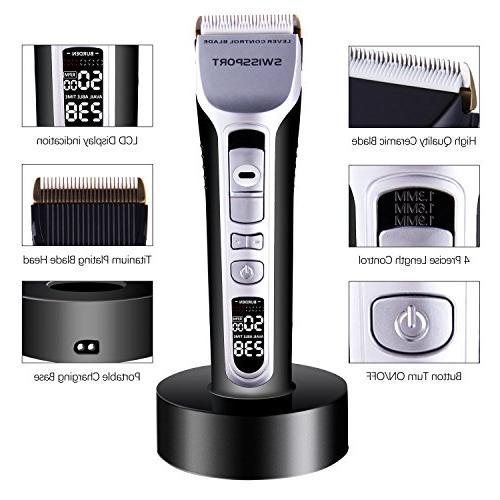 Hair SWISSPORT Cordless/Corded Professional Hair Trimmer Kit, Rechargeable
