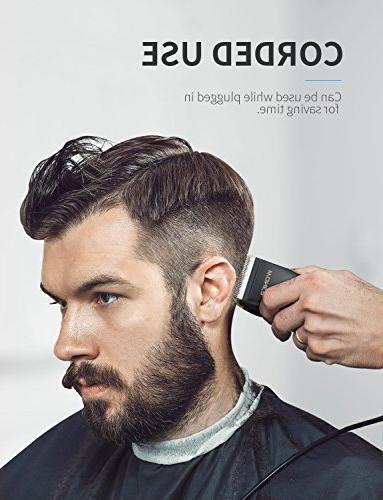 WONER Hair Cordless Hair Beard for Men Professional Hair Cutting Kit 2000mAh