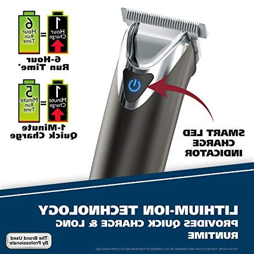 Wahl Steel Beard for Electric Shavers, Trimmers, Rechargeable in One Men's by Brand used by Professionals, #9864