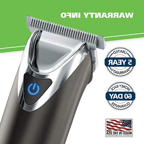 Wahl Clipper Slate Stainless Steel Ion Beard Electric Shavers, Trimmers, One Men's Grooming Kit, by Professionals,