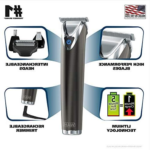 Wahl Slate Steel Electric Shavers, Nose Trimmers, All One Men's Grooming by the by