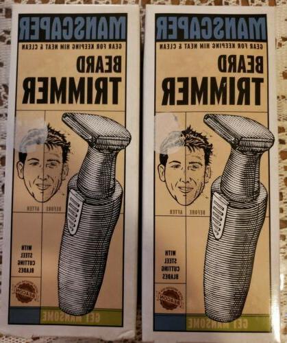 lot 2 manscaper beard trimmer trimmers