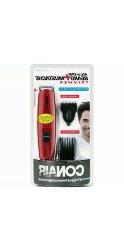 Conair For Men Beard + Mustache Trimmer corded - BRAND NEW!