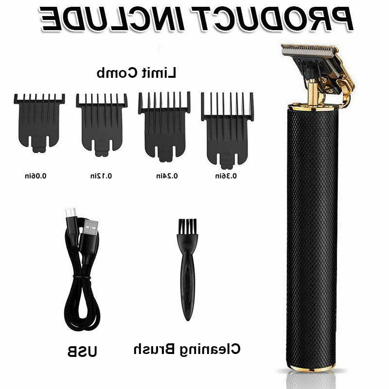 Men Rechargeable Beard Mustache Trimmer Shaver W/4PCS