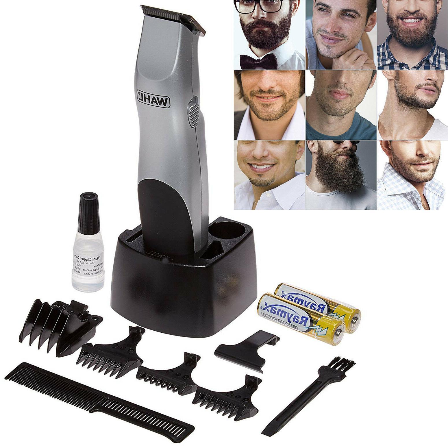 Wahl Mens Kit Beard Trimmer Moustache Clipper Shaver Cordles