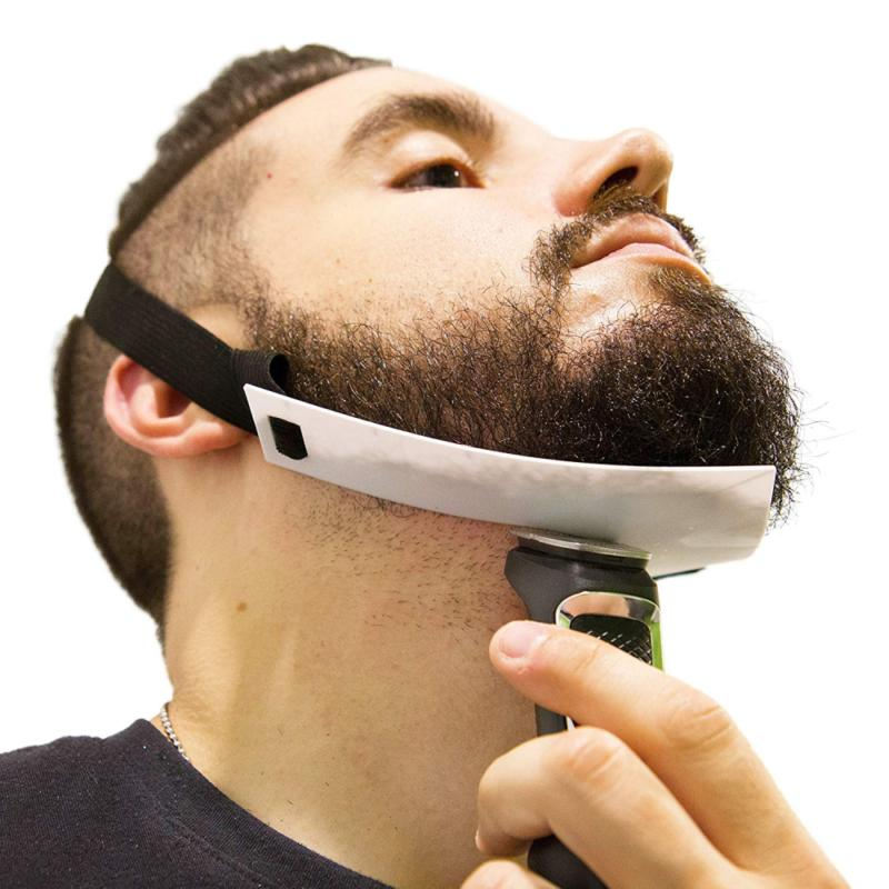 neckline beard shaping template trimming shaper guide