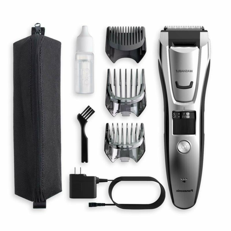 New Panasonic Rechargeable Body Beard Clipper Set