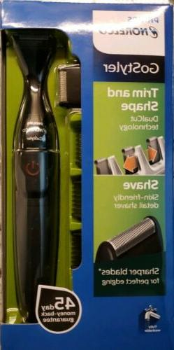 Philips Norelco GOSTYLER Wet/Dry Beard Trimmer w/ 3 Precisio