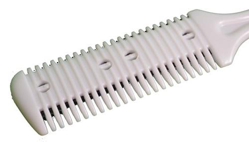 Lot 2 ALAZCO Personal Trimmer - Double Blade Hair Beard Burn - Manual Old Fashion Style