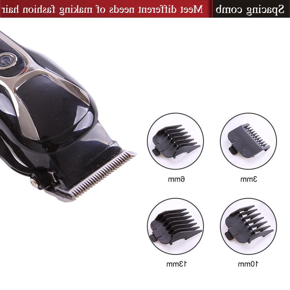SURKER Ceramic Blade Hair Clippers LED Barber Beard Kit Men