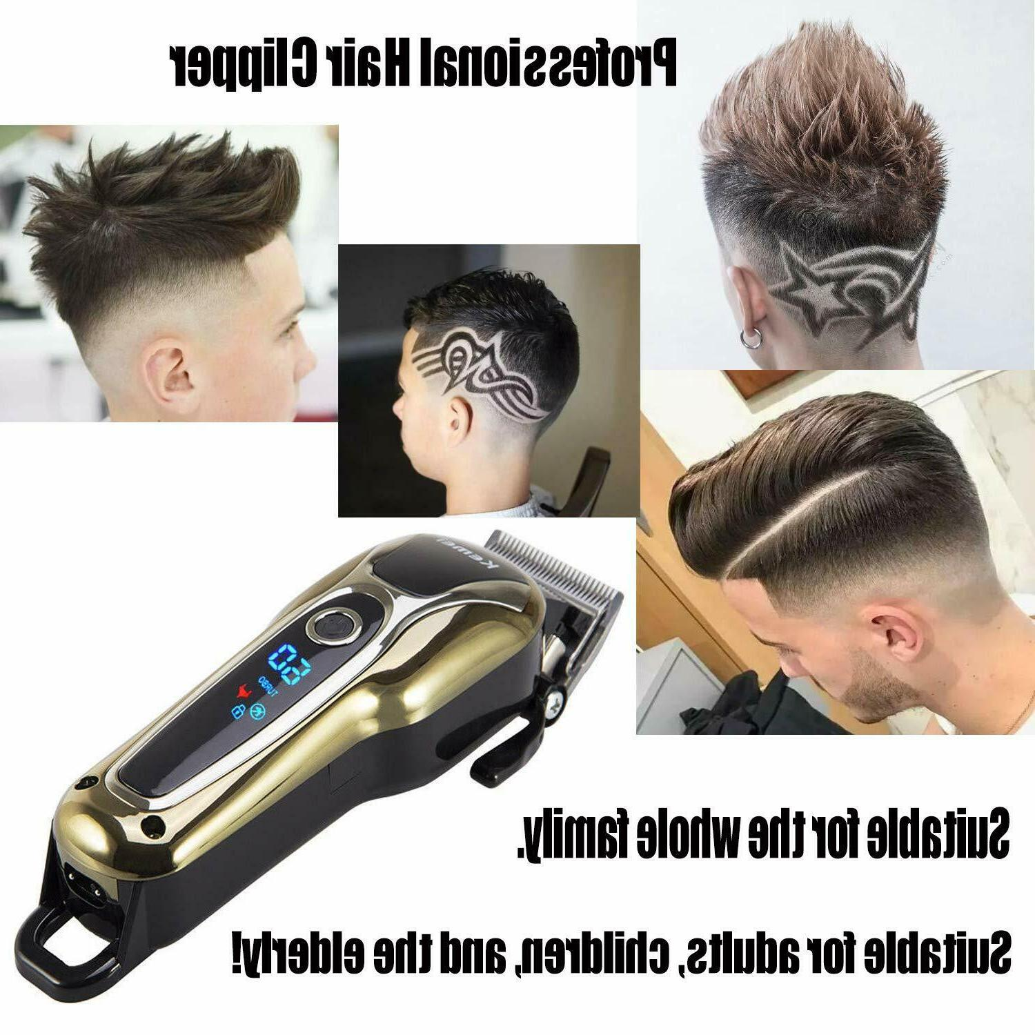 Barber Professional Cordless Electric Hair Trimmer Cutter Haircut