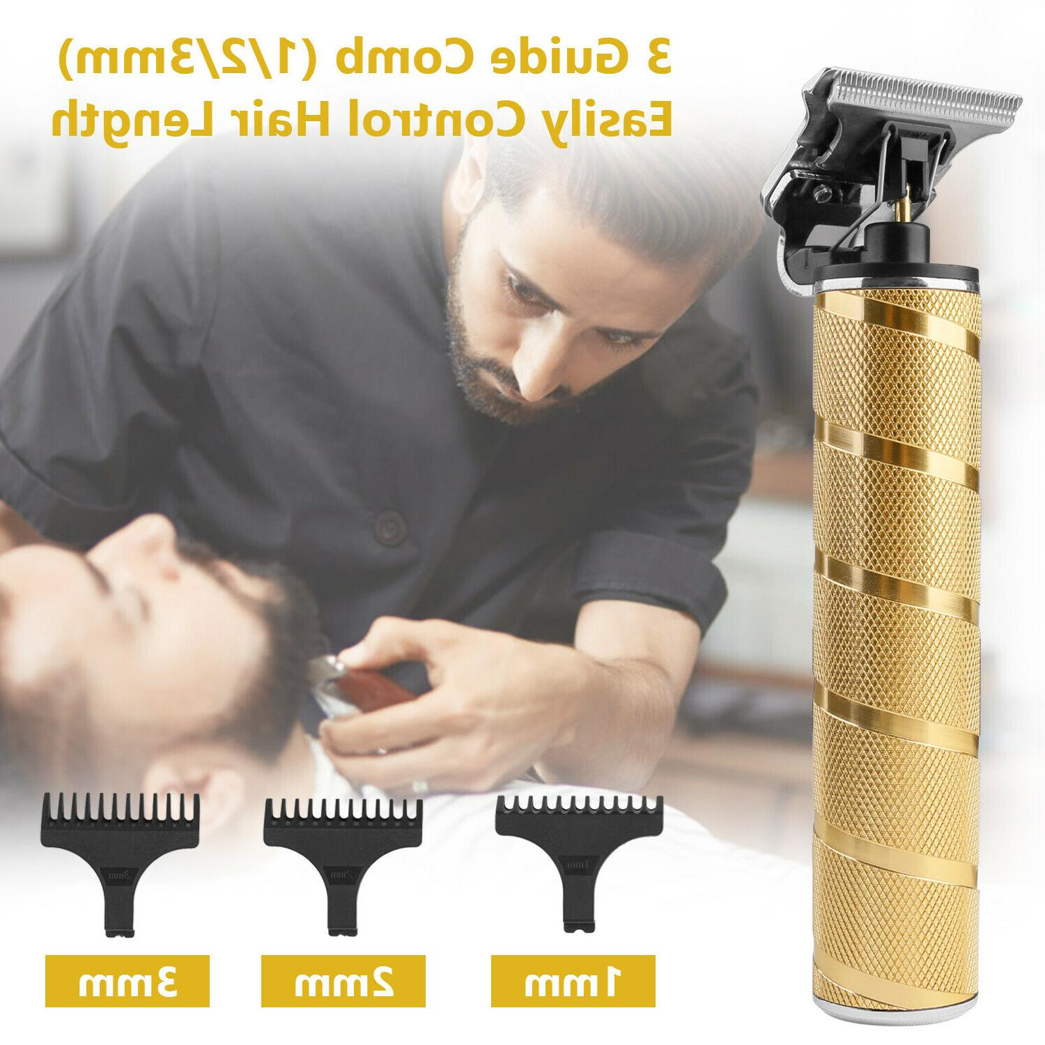 Professional Hair Clippers T-Blade Cordless Hair Trimmer Shaver Waterproof