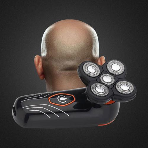 Men Electric Shaver Beard Hair Trimmer Bald Razor