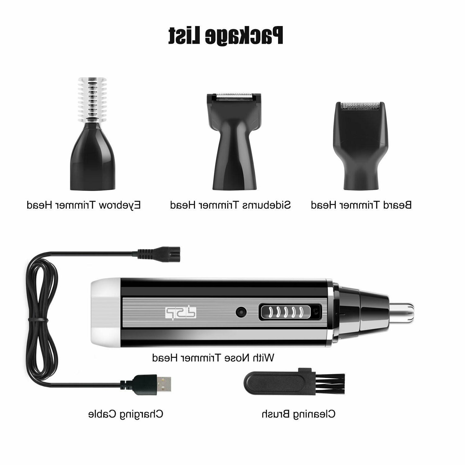 Rechargeable Shaver Cordless Ear Nose Trimmer Set