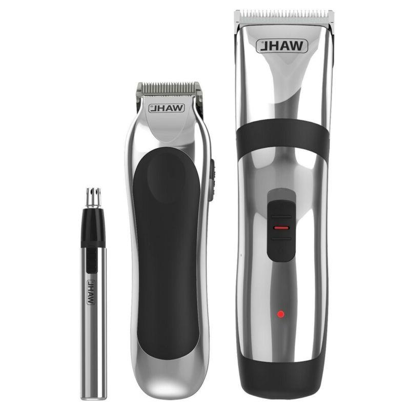 Wahl Rechargeable Hair Beard Shave Trimmer & Nose / Gift Set
