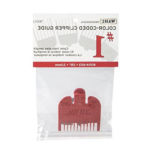 "Wahl Color Comb Attachment Red #1 1/8"" – Great for Professional Stylists"