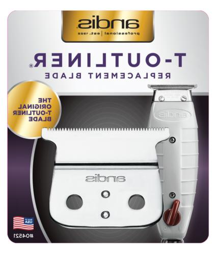 Andis T-Outliner Replacement Trimmer Blade, Silver
