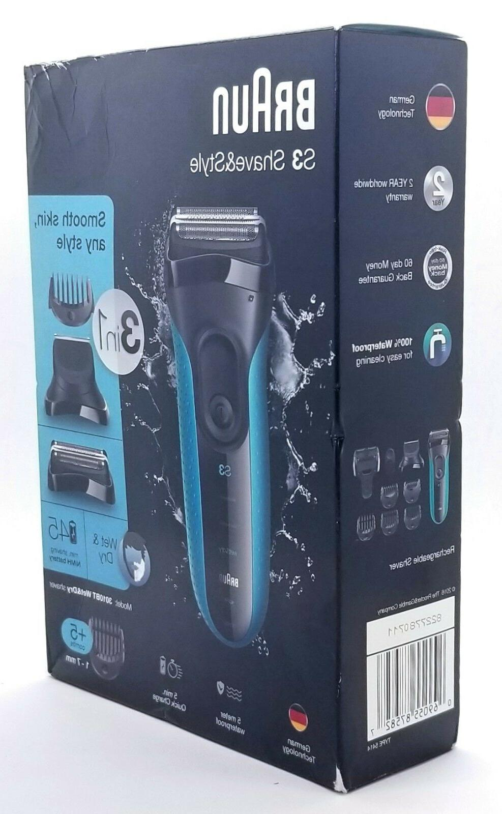 Braun 3 & Style Electric Foil Wet & Dry