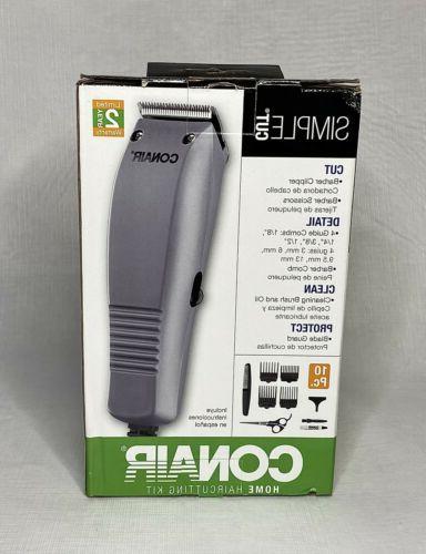 Conair Simple Cut 10-Piece Basic Haircut Kit