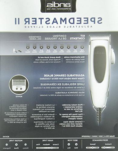Andis SpeedMaster II Clipper with Silver, Model