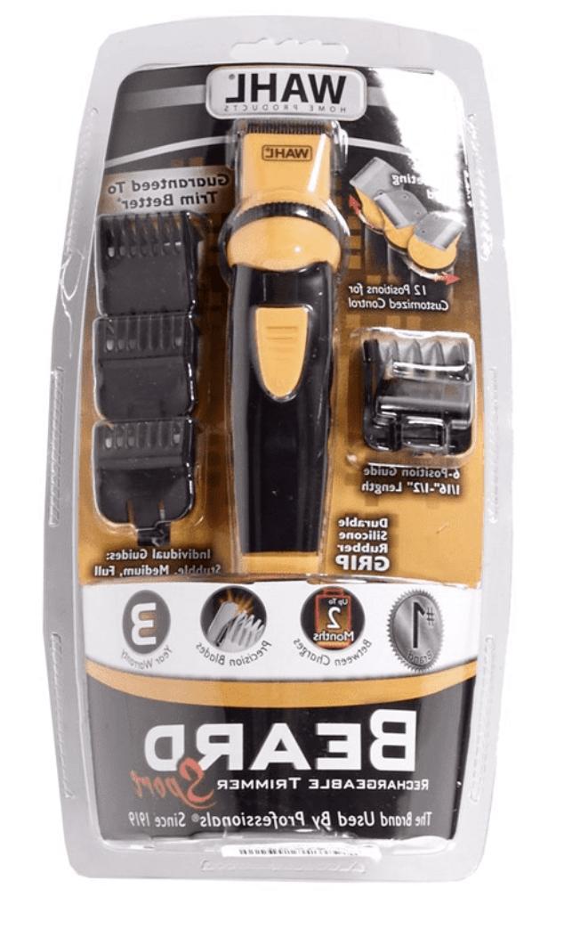 sport rechargeable beard trimmer 9953 200 durable