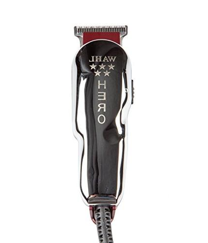 Wahl Professional 5-Star Corded T Blade #8991 Great for Barbers Powerful Electromagnetic – Includes 3 Guides, Oil, and