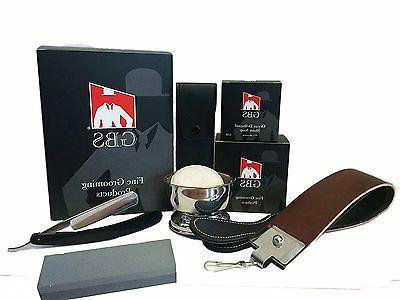 Straight Razor Shaving Set / Kit - Comes in Gift Box!, 5 Pc