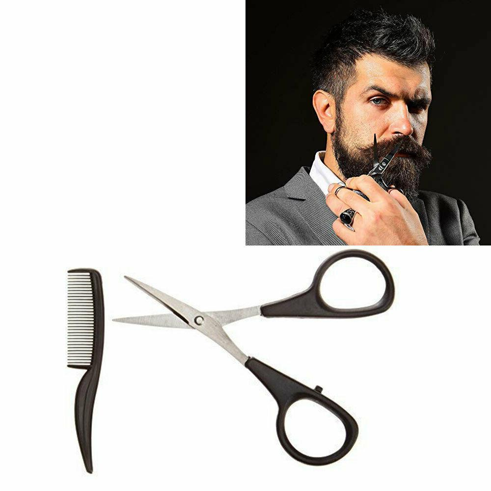 sturdy beard mustache hair trimmer scissor comb