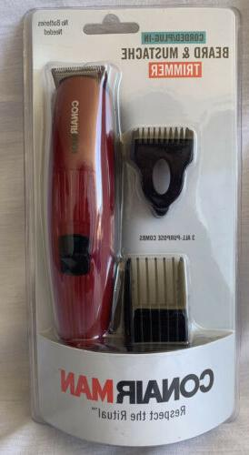 trimmer beard mustache corded plug