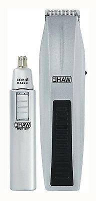 Wahl Hair Trimmer Groomer Battery Ear Brow Face Kit