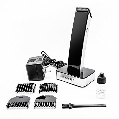 TRYM II Rechargeable Hair Kit - Body, Mustache, Trimmer Looks Great Adapter, Base and Trimming Included