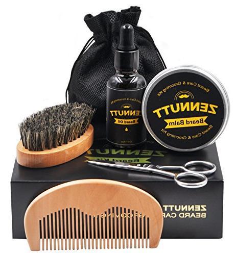 for Men & Set Beard Beard Oil 100% Boar Beard Brush & Wood Beard Comb Beard & Mustache Gifts