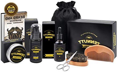 for Men Beard Growth & Set Beard Butter Beard Oil 100% Boar Beard & Wood Beard & Beard Mustache Gifts Set