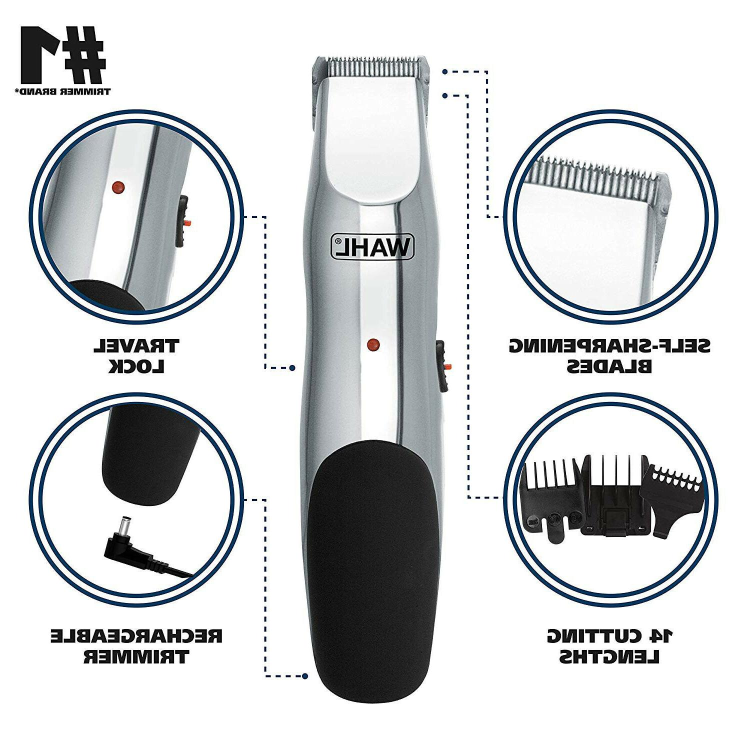 Wahl Cordless Hair Cutting Body Shaver Groomer Rechargeable