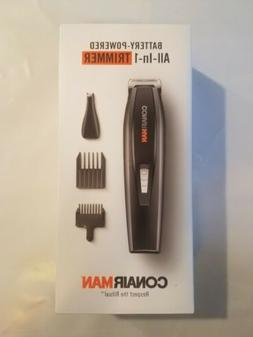 CONAIR MAN All-in-One Trimmer Battery Powered Beard & Mustac
