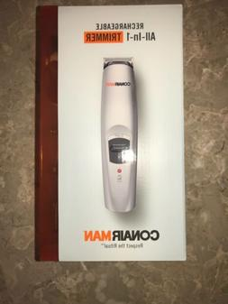 Conair Man Rechargeable All In 1 Trimmer 5 Attachments Ear N