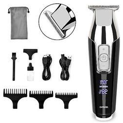 Men Beard Trimmer Cordless Hair Cutting Kit Lining Artwork T