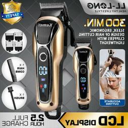 Kemei Electric Hair Clippers Trimmer for Men Beard Cordless