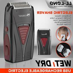 Men Electric Shaver Trimmer Razor USB Rechargeable Hair Bear
