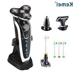 Men's 4 In 1 Electric Rotary Shaver Rechargeable IPX6 Waterp
