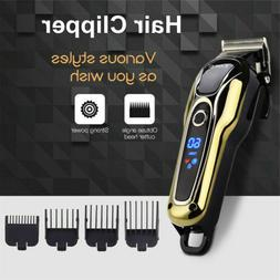 Men's Electric Clipper Cordless Hair Beard Trimmer Shaver Ra