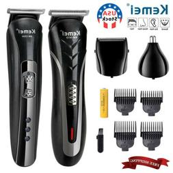 Men's Pro Hair Clippers Beard Trimmer Electric Cordless Shav