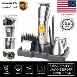 Electric Men's Wireless Beard Hair Cut Haircut Clipper Trimm