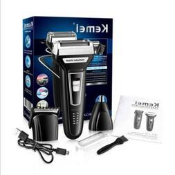 Mens Electric Shaver Beard Trimmer Hair Clipper Travel USB R