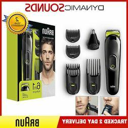 Braun MGK3021 6-in-1 Beard Trimmer & Hair Clipper - Black/Vo