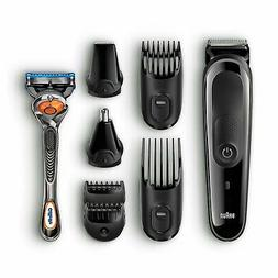 Braun MGK3060 8-in-1 All-in-One Beard Trimmer for Men, Cordl