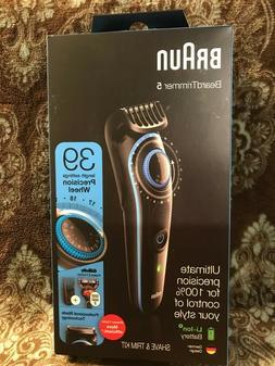 NEW Braun Beard Trimmer-5  , 39 Length Settings Shave & Trim