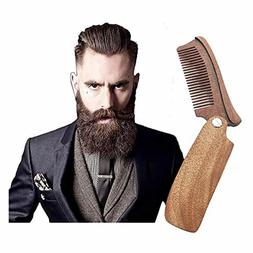 New Folding Wood Beard Comb Trimmer- Pocket Beard Mustache T